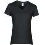 Womens V-Neck Black Tshirt