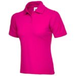Ladies Hot Pink Polo