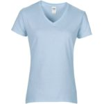 Womens V-Neck Light Blue Tshirt