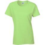 Womens Heavy Cotton Mint Green T-Shirt