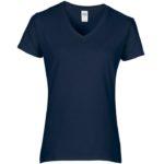 Womens V-Neck Navy Tshirt