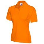 Ladies Orange Polo