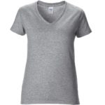 Womens V-Neck Sports Grey Tshirt
