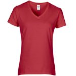 Womens V-Neck Red Tshirt