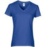 Womens V-Neck Royal Blue Tshirt