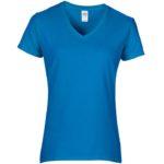 Womens V-Neck Sapphire Tshirt