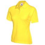 Ladies Yellow Polo